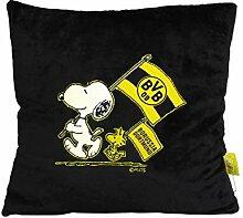 Borussia Dortmund BVB-Snoopy Kuschelkissen schwarz