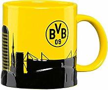 Borussia Dortmund BVB Tasse Skyline, Steingut,