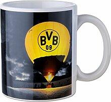 Borussia Dortmund Weihnachtstasse - Tasse / Kaffeetasse / Kaffeepott / Mug / Becher BVB 09 - plus gratis Aufkleber forever Dortmund