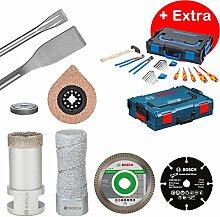 Bosch Professional Werkzeug-Set Sanitär/Fliesenleger-Box + Gedore-Box