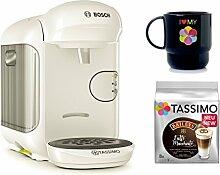 Bosch TASSIMO VIVY 2 + T-Discs Baileys + Tupper Becher Kapselmaschine (Weiss)