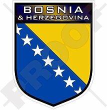 BOSNIA & HERZEGOWINA Schild 100mm Auto & Motorrad Aufkleber, Vinyl Sticker