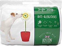 Boston Duvet & Pillow Co Bettdecke, hypoallergen, 4,5Tog, weich, Microfaser, weiß, Einzelbe