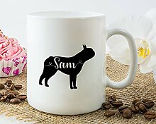 Boston Terrier Tasse, personalisierbar, Boston