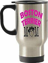 Boston Terrier Vater und Mutter Geschenkidee