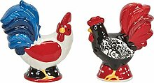 Boston Warehouse Damask Rooster Salt and Pepper