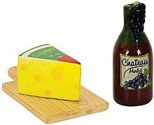Boston Warehouse Wine & Cheese Salt and Pepper