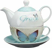 Botanic Butterfly Blessings Grace Tea-for-One Set