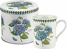 Botanic Garden Becher und Zinn set-hydrangea Motiv, Porzellan, mehrfarbig, 13x 13x 11,5cm