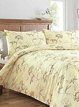 Botanical Floral bedruckte Bettdecke Bettbezug Bettwäsche-Set–mehrere Farben und erhältlich, natur, Einzelbe