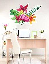 Botanische Wand Dekor große florale Wandtattoos