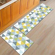 Botia 2 Stück Rutschfester Küchenteppich Wohnzimmer Teppich Badezimmerteppich