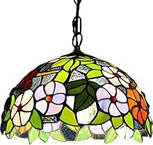 BOTOWI 16 Zoll Tiffany Stil Pendelleuchte Buntglas