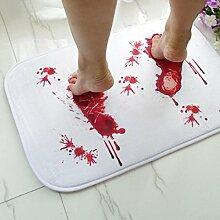 botrong Blut Neuheit Badematte Fußmatte Teppich Teppich Wasser rutschfest Absorption