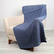 Bottega Tessile Sofadecke blau 130 x 170 cm