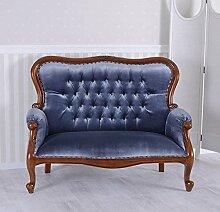Boudoir Sofa Kanapee Antik Couch Samt Mahagoni