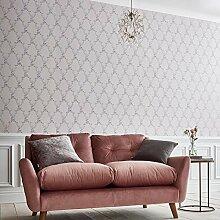 Boulevardia Pink Rankgitter Designer Tapete