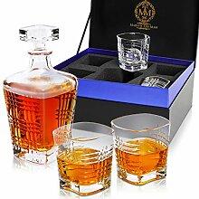 Bourbon Dekanter und Glas-Set für Herren,