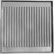 Bourguignon RC1104400B Grillplatte, quadratisch, mit grill/glatte Vorderseite