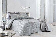 Bouti Kleiderschrank Bett Cama de 180 Grau-Blau