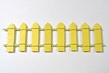 Boutique d'isacrea Shop-isacrea Miniatur aus Holz Barriere oder Gartenzaun, Osterklammern Holz, Dimension 10* 2,8* 0,2cm gelb