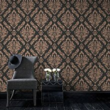 Boutique Damaris Damast Luxus Tapete, metallisch,