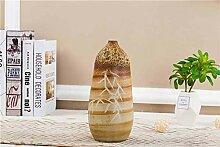 Boutique vase Malerische braune handgeschnitzte