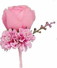 Boutonniere Knopflöcher Groom Groomsman Best Man Rose Hochzeit Blumen Zubehör Ball Party Anzug Dekoration rose