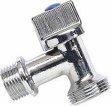 Boutt 3120755ML Wasseranschluss für Waschmaschine, 1/4 Drehung, 15mm x 21mm, Anschluss 20mm x 27mm