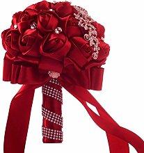 Bovake Hochzeitsstrauß Kunstblumen