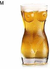 BovoYa Bierkrug Sexy Bierglas Frauenkörper