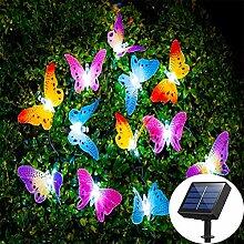 BovoYa Schmetterling Solar Lichterkette Außen