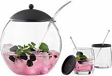Bowle-Set - Glas - Ø 21,5 cm - mit