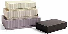 Box Box Desktop Aufbewahrungsbox 4er Set, grau