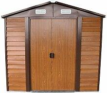 Box Haus Häuschen Abstellraum Schuppen Garage Auto-Garten Stahlblech verzinkt–Größe cm 236x 195x 209H