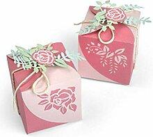Box Mit Blumen - Schneiden von Metall-Vorlage