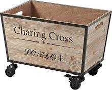 Box mit Rollen Mauno, beige