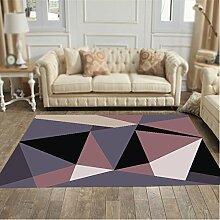 Box Muster Teppich / Wohnzimmer Couchtisch Teppich geometrische Teppich / Schlafzimmer Nacht Teppich / Studie Halle Matte / Kinder krabbeln Teppich / Yoga-Matten ( größe : 120*160cm , stil : B )