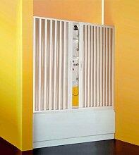 Box Wand Badewanne Dusche Badewannenabtrennung, cm.Reduzierbare 140, Center Öffnung, Blasebalg Acryl