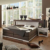 Boxbett in Weiß Braun Landhaus (3-teilig)