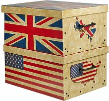 Boxen-Set Flag aus Karton ModernMoments