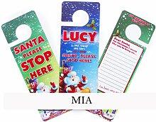 Boxer 3D Weihnachts Mia, Tür Kleiderbügel, blau/grün