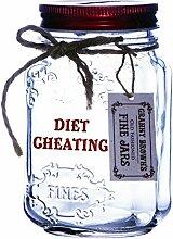 Boxer Diet Cheating Einmachglas, Glas, transparen