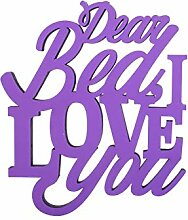 Boxer Gifts Chatterwall Dear Bed I Love You, Viole