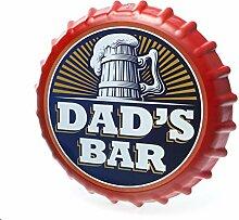 Boxer Gifts Flaschenverschluss-Schild Dads Bar,
