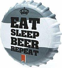 Boxer Gifts Flaschenverschluss-Schild Eat Sleep