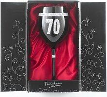 Boxer Weinglas zum 70Geburtstag, Schwarz