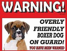 Boxer (Young) Guard Dog Metall Schild 43