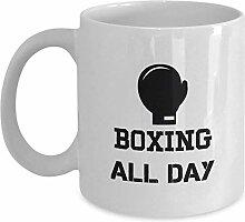 Boxing All Day Coffee Mug Cup 11oz