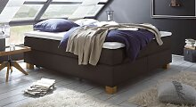 Boxspring-Doppelbett ohne Kopfteil 160x200 cm
